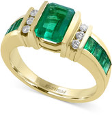 Effy Brasilica by Emerald (2-1/10 ct. t.w.) and Diamond (1/6 ct. t.w.) Ring in 14k Gold