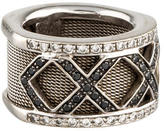 Ring 18K Mesh & Diamond Band