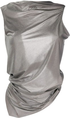 Rick Owens Lilies Sleeveless Draped Knitted Top