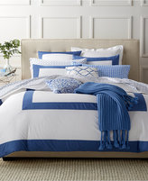 Charter Club Damask Designs Colorblocked Denim King Duvet Set