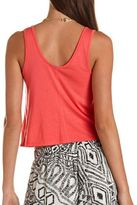 """Charlotte Russe Studded """"Love"""" Graphic Crop Tank"""
