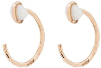 Melissa Joy Manning 14kt Yellow Gold Opal Huggie Earrings