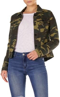 Elan International Camo Print Button Down Jacket
