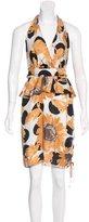 Moschino Silk Halter Dress