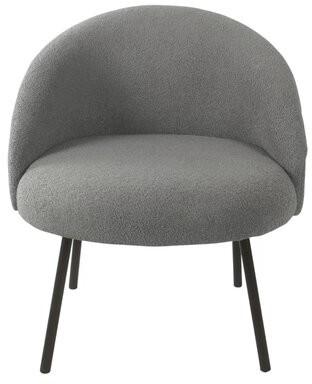 Corrigan Studio Giuliano Side Chair Upholstery Color: Gray sheepskin fur