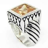 Alljoy Art'n Sparkle - Designer-Inspired Ring w/Champagne CZ Size 6