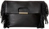 Alice + Olivia Edie Pebbled Leather Fold-Over Clutch Handbags