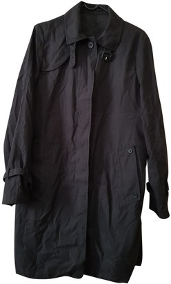 Aquascutum London Black Polyester Trench coats