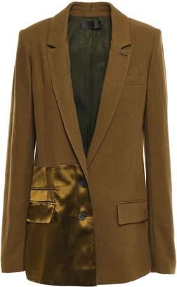 Haider Ackermann Satin-paneled Wool Blazer