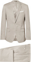 Hugo Boss - Grey Hudson Slim-fit Stretch-cotton Suit