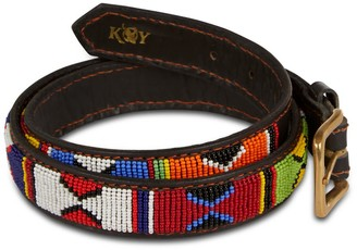 JUA Koy Clothing Hand-Beaded Maasai Belt Narrow