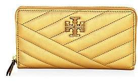 Tory Burch Women's Kira Chevron Metallic Leather Wallet