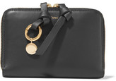 Chloé Alphabet Leather Wallet - Black