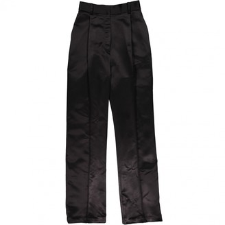 Beaufille Black Polyester Trousers