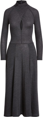 Ralph Lauren Worsted Wool Long-Sleeve Jumper Dress