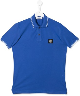Stone Island Junior TEEN logo polo shirt