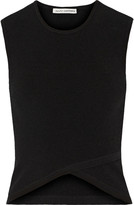 Autumn Cashmere Cutout ribbed-jersey top
