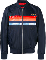 Diesel printed stripe bomber jacket