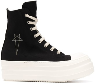 Rick Owens platform embroidered star sneakers