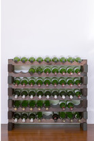 6 Layers of 9 Bottles Wine Rack Finish: Stained