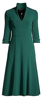 Black Halo Women's Kensington Stand-Collar Fit & Flare Dress - Size 0