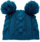 Anna Sui James Coviello For Bobble & Cable Knit Hat