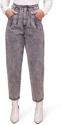 ASTR the Label High Waist Pleat Front Crop Jeans
