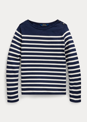 Ralph Lauren Striped Cotton Jersey Top