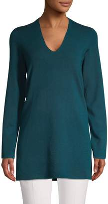 Eileen Fisher Merino Wool V-Neck Tunic
