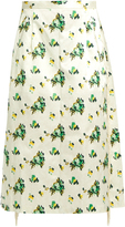 Toga Floral-print A-line midi skirt