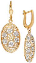 Macy's Two-Tone Filigree Drop Earrings in 10k Gold
