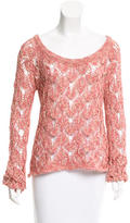 Torn By Ronny Kobo Bateau Neck knit Top