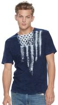 Rock & Republic Men's Painted Flag Tee