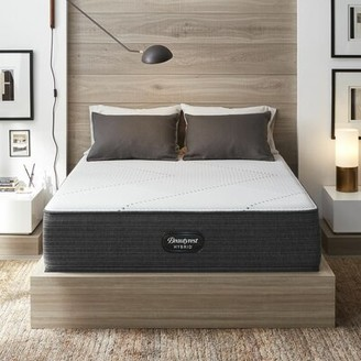 "Simmons 13.5"" Extra Firm Hybrid Mattress and Box Spring Mattress Size: Twin, Box Spring Height: Standard Profile (9"")"