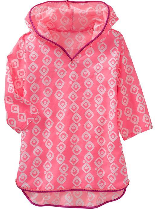Old Navy Girls Hooded Printed Cover-Up Tunics