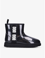 Thumbnail for your product : UGG Classic Clear Mini PVC and faux-shearling boots