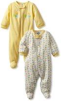 Gerber Unisex-Baby 2 Pack Sleep N Play Zip Front Ducks