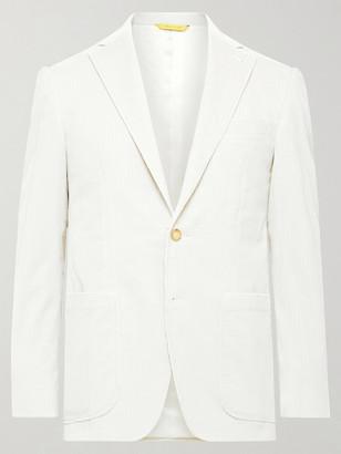 Canali Kei Slim-Fit Unstructured Cotton-Blend Corduroy Blazer