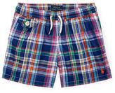 Ralph Lauren Childrenswear Traveler Plaid Boardshorts