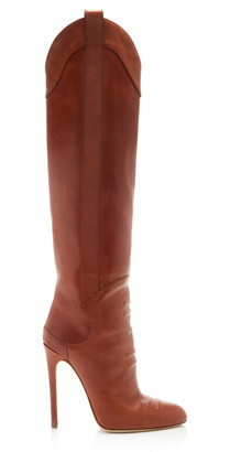 Brandon Maxwell Leather Knee High Boots