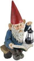 Private Label Reading Garden Gnome W/ Lantern Outdoor Statue