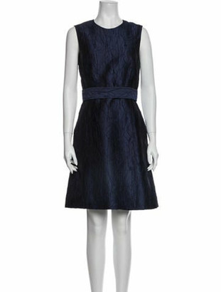 Jason Wu Crew Neck Knee-Length Dress Blue