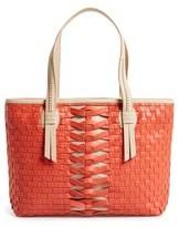 'Hayden' Woven Leather Tote