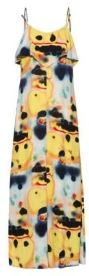HUGO BOSS Tie Dye Midi Dress With Volant Detail - Patterned
