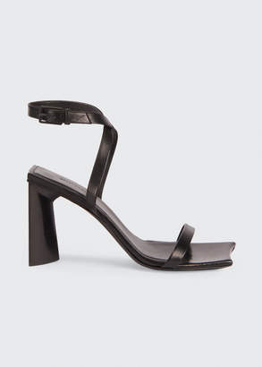 Balenciaga Moon Leather Ankle-Strap Sandals