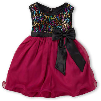 Princess Faith (Newborn Girls) Sequin Bodice Sleeveless Dress