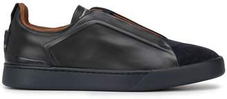 Ermenegildo Zegna Low Contrasting Panel Sneakers