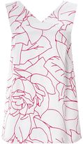 Jigsaw Floral Contours Wide Strap Top