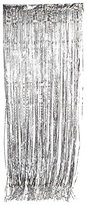Adorox Tinsel Metallic Silver Gold Pink Foil Fringe Curtains Party Wedding Event Decoration (4, Silver)