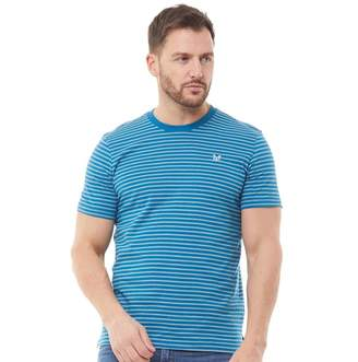 Crew Clothing Mens Double Stripe T-Shirt Ink/Grey